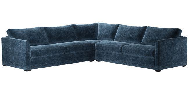Aissa Large Corner Sofa In Atlantic Roosevet Velvet Corner Sofa Sofa Elegant Sofa