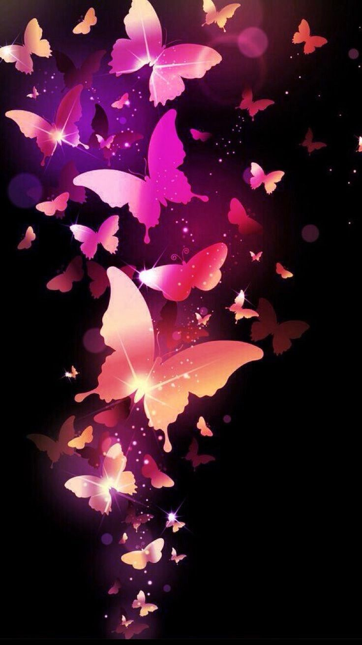 Pink lighted butterfly | Butterfly wallpaper, Beautiful ...