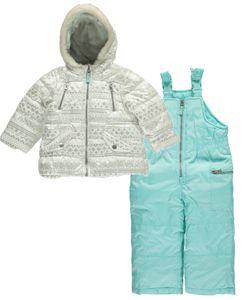 "Carter's Baby Girls' ""Digitized Snowflakes"" 2-Piece Snowsuit - CookiesKids.com"