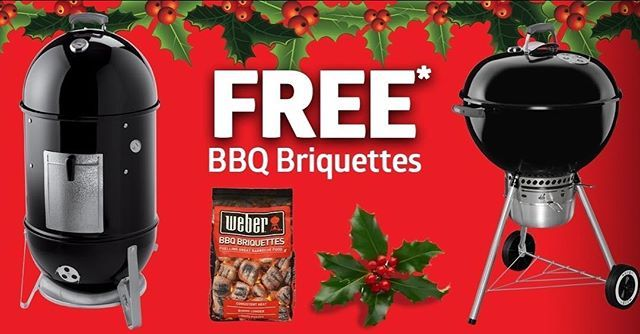 Free Bag of Weber BBQ Briquettes with every Weber Kettle or Weber Smokey Mountain purchased, hurry offer ends 24th December 2017 #weber #weberbbqausnz #weberbbq #webergrill #weberq #weberlife #weberlove #webber #barbecue #barbeque #bbq #weberspecialistdealer #weberspecialist #specialist #specialistdealer #backyard #outdoordining #alfrescodining #outdoorchef #chef #grill #grilling #perthbbq #perthisok #outdoor #garden #worldsbest #bestbbq #perth #homeofbbq