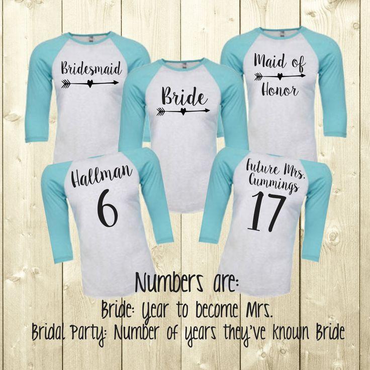 Bridal Party Spirit Shirt ~ Personalized Bridesmaid Jersey ~ Bride Jersey (BR019) B32 xfpGmWhU9f