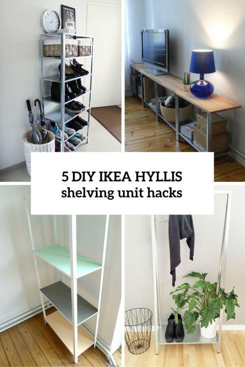 How To Hack IKEA Hyllis Shelving Unit: 5 DIY Ideas ...