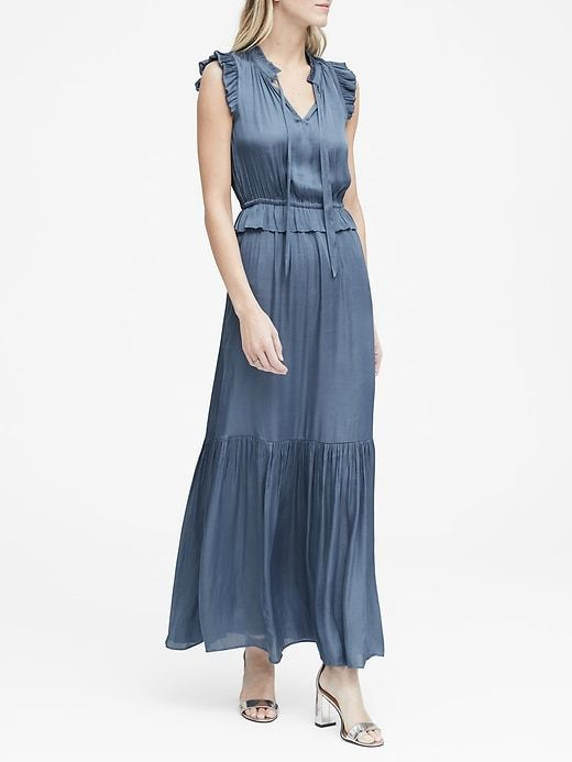 201126b9488 Soft Satin Maxi Dress in 2019