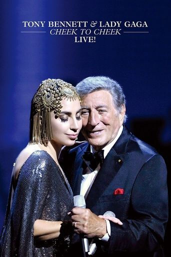Cheek To Cheek Live (2014) | http://www.getgrandmovies.top/movies/3522-cheek-to-cheek-live | Concert featuring live performances from Lady Gaga and Tony Bennett of 13 songs from their collaborative album, Cheek to Cheek. Bennett and Gaga were joined on stage by 39-piece orchestra and jazz musicians associated with both artists.