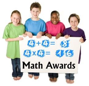 Find fun general math award certificates on this page as well as multiplication, telling time, and geometry awards: http://www.uniqueteachingresources.com/math-awards-certificates.html