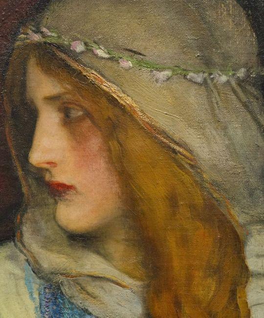King Lear: Cordelia's Farewell  (Detail) -   Edwin Austin Abbey   American 1852-1911
