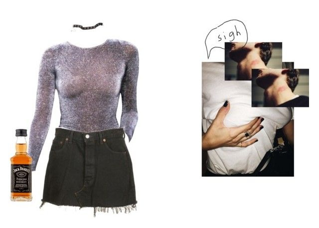 """Friday night"" by vesleku on Polyvore featuring Levi's"
