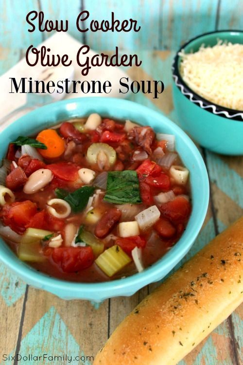 Slow Cooker Olive Garden Minestrone Soup Copycat Recipe - Skip the restaurant and make your favorite Olive Garden dish at home! Budget friendly and delicious this Slow Cooker Olive Garden Minestrone Soup Copycat Recipe is sure to become a favorite!