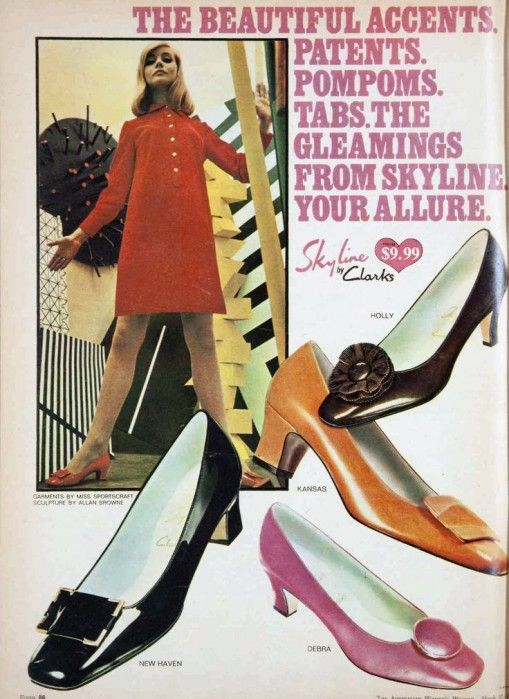Clarks Ladies shoes 1960s