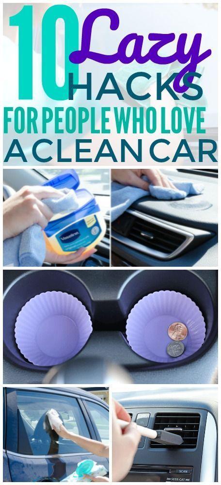 10 Reinigung Hacks, die tatsächlich Ihr Auto Unordnung frei halten