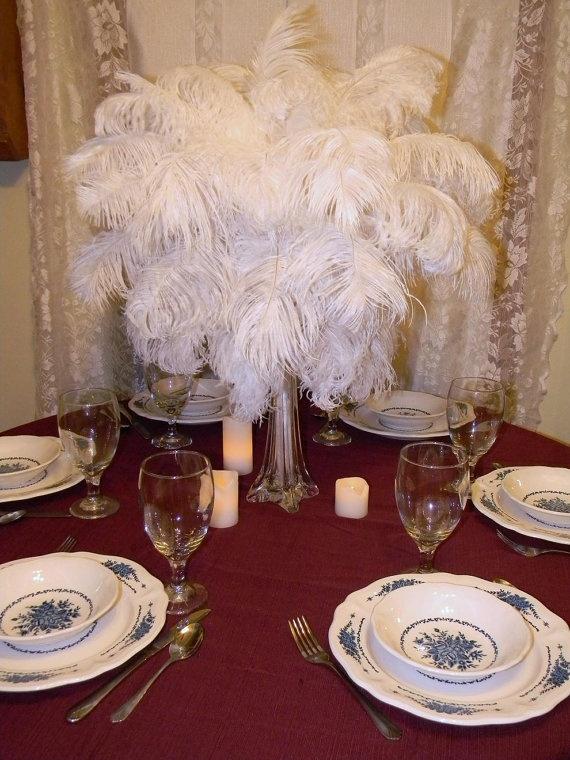 Ostrich feather tower centerpiece kit weddings pinterest