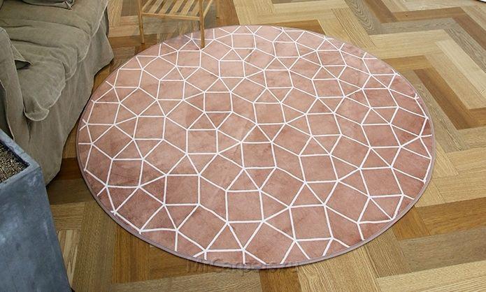 Круглый ковер Zio, инди-розовый купить в интернет-магазине MrCarpets.ru