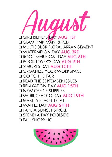 Glam August FREE printable from @paperandglam! shop.paperandglam.com