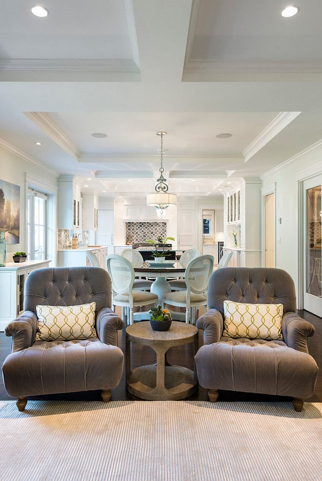 Best White Kitchen With Blue Gray Backsplash Tile Homebunch Com 400 x 300