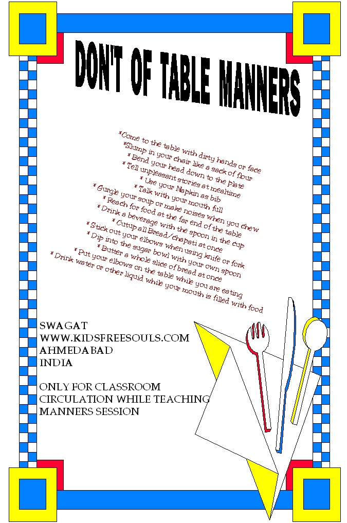 39 don 39 ts 39 of table manners for kids but i know some adults who need a refresher lol cracks me - Table manners and etiquette ...