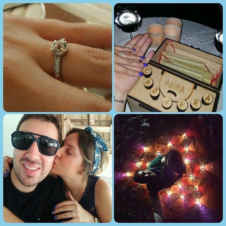 Felicidades a los nuevos novios AQUALILA  Isabel & Daniel  Anillo de compromiso oro blanco 18k Morganita durazno 4mm engastada en 4 uñas en oro rosado 17 diamantes de 1.5 puntos  #engagementring #love #instajewels #joyeriacolombiana #diamond #fb # tw #pin
