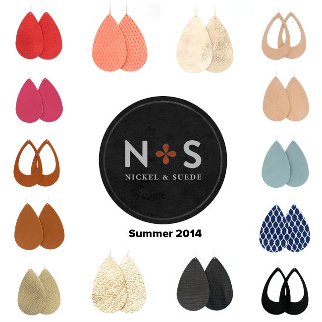 Size small: like the blush color and the luxe linen. Nickel and Suede leather earrings- new colors for the end of Summer