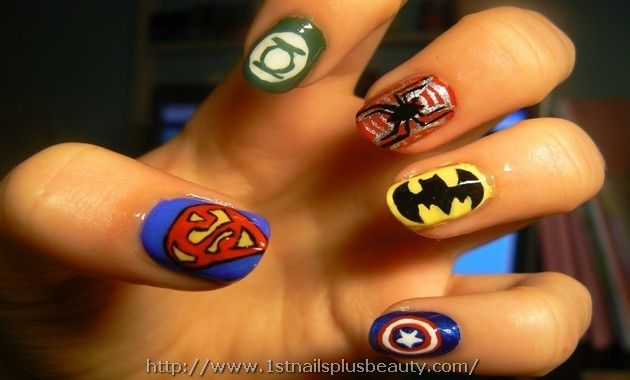 Marvel Heroes Nail Art Picture