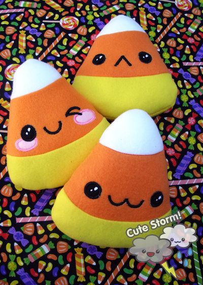 Kawaii Candy Corn Plushies by The-Cute-Storm.deviantart.com on @deviantART