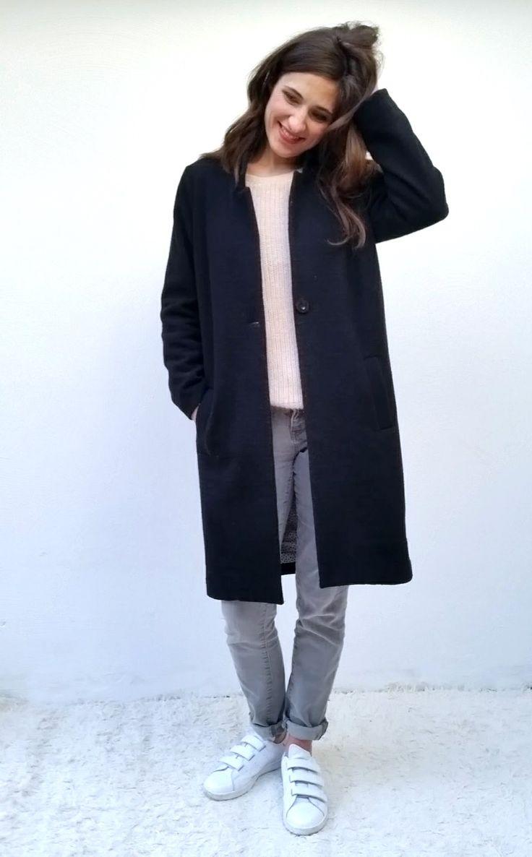patron de couture femme IVE le manteau long woman sewing pattern IVE the long coat www.blousetterose.com