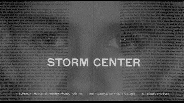 Saul Bass Movie Title Stills: Storm Center (Daniel Taradash, 1956)