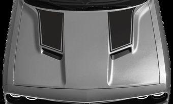 Dodge Challenger 2015 Hood Intake Power Bulge Stripes