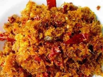 Abon Ikan Tongkol - Disini ada panduan cara membuat masakan resep abon ikan tongkol, lele, cakalang, tuna, bandeng, patin, gabus atau tenggiri bumbu pedas yang paling enak.