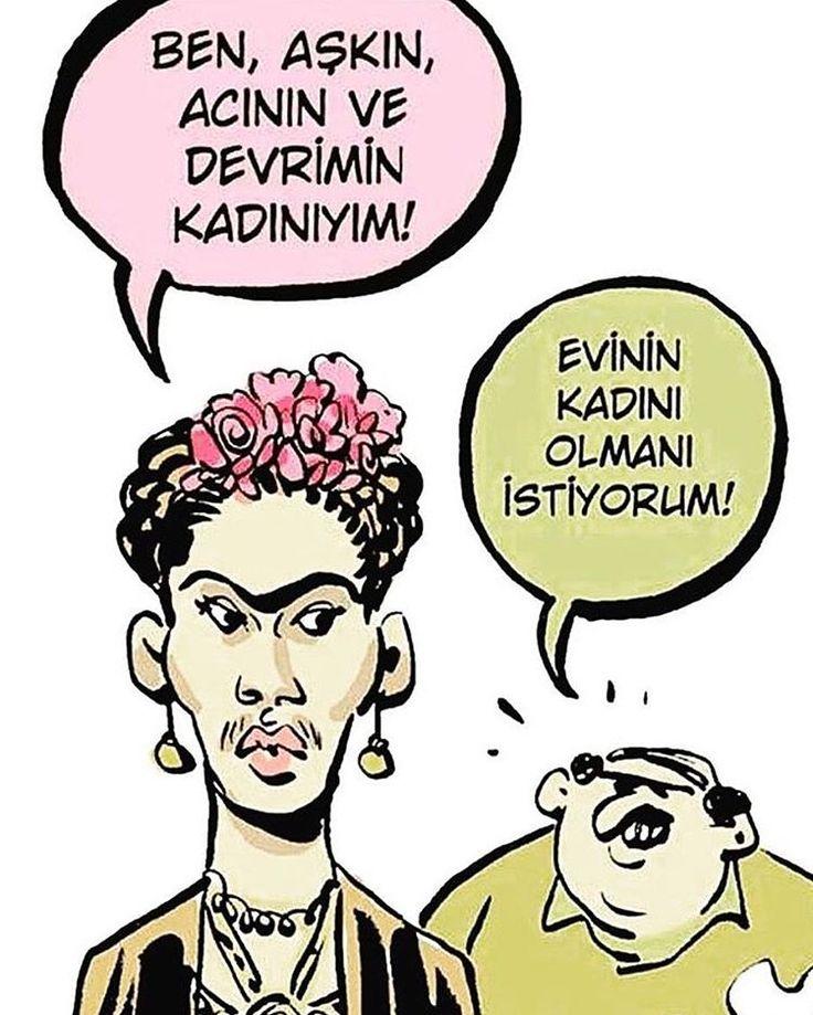 Teklife gel #birazdagülelim #birkadınbirerkek #ilişkiler #aşk #mizah #komedi #karikatür #fridakahlo #love #weekend #vibes http://turkrazzi.com/ipost/1518215020986497951/?code=BURyISKj_uf