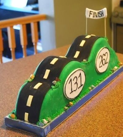 Marathon Runner's Finish Line Cake