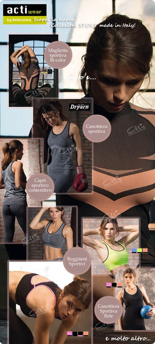 Intimo Sportivo per sport outdoor e indoor! http://www.atyintimoonline.it/264-intimo-sport-femminile-donna #sport #intimo #fitness #reggiseni