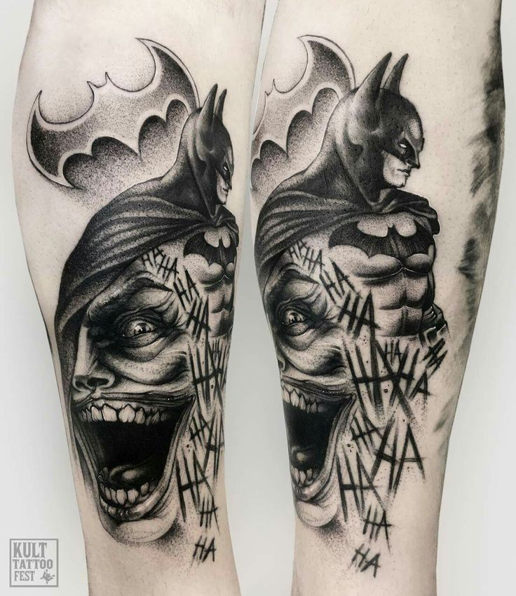 Simple Tattoo Joker Batman