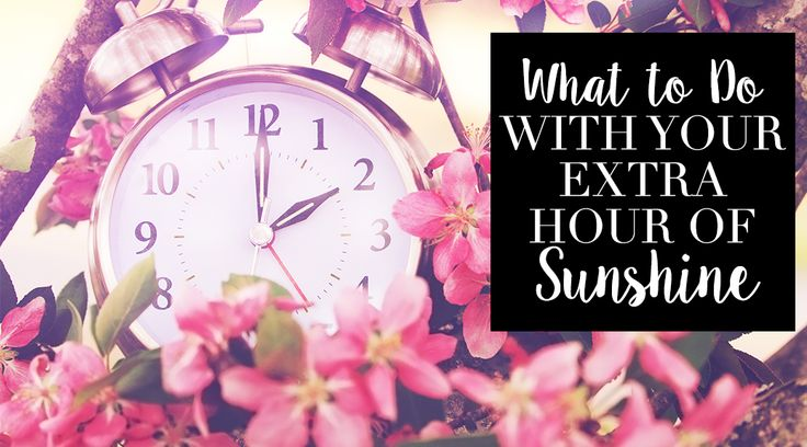 "What to do with your extra hour of sunshine during daylight saving | Feeling off your game today? It might be because you had to ""spring forward"" this morning. It's daylight savings time, which is when most of us turn our clocks ahead one hour. Whether you agree wit..."