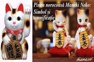 """Maneki Neko sau """"pisica norocoasă"""", """"pisica norocului"""", este o statuetă, un talisman extrem de popular în cultura japone..."""