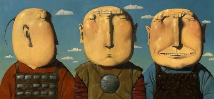 Three Heroes by Zorikto Dorzhiev