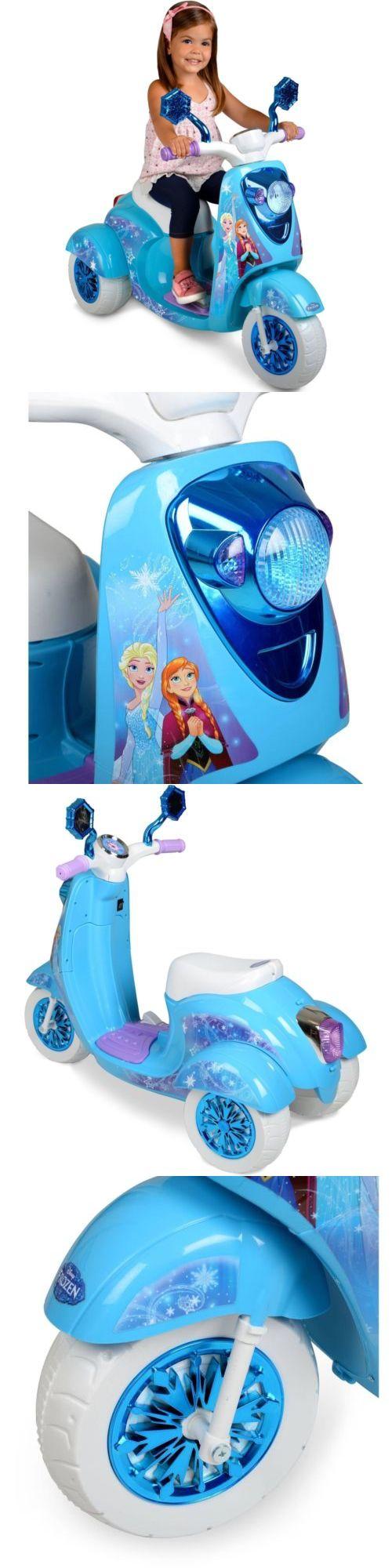 Disney Princesses 146030: Disney Frozen Scooter Ride On Kids Toy Girls Bike Elsa Anna 6V Battery Electric -> BUY IT NOW ONLY: $84.87 on eBay!