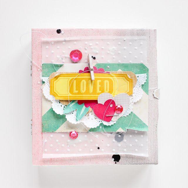 Mini Album in Zigarrenkiste von Janna Werner