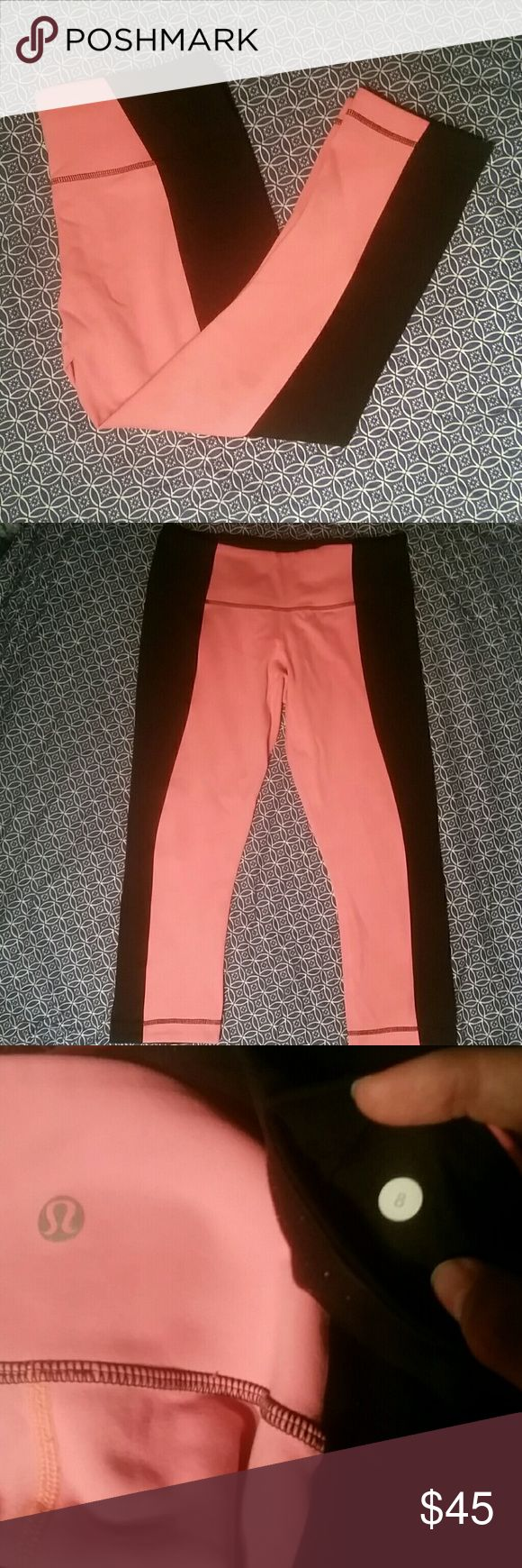 Lululemon Wunder Under Crop Bonded WU crop from Lululemon. Very good used condition. Some piling in the crotch; the rest of the pant is in great condition. Coral color, orange ish pink. Size 8, but imo, the Bonded technology makes this feel more like a 6. Make an offer! :) lululemon athletica Pants Leggings