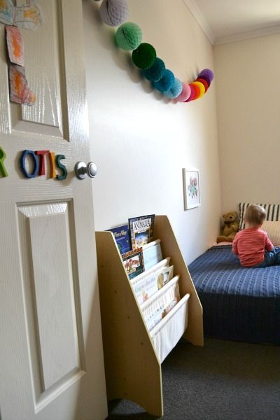 Simple child's bedroom which teaches lifestyle and simplicity - from How We Montessori - awesome!