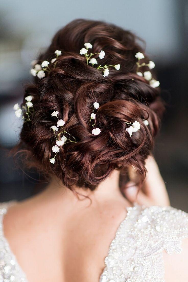 Perdido Beach Resort Wedding - bridal hair with flowers
