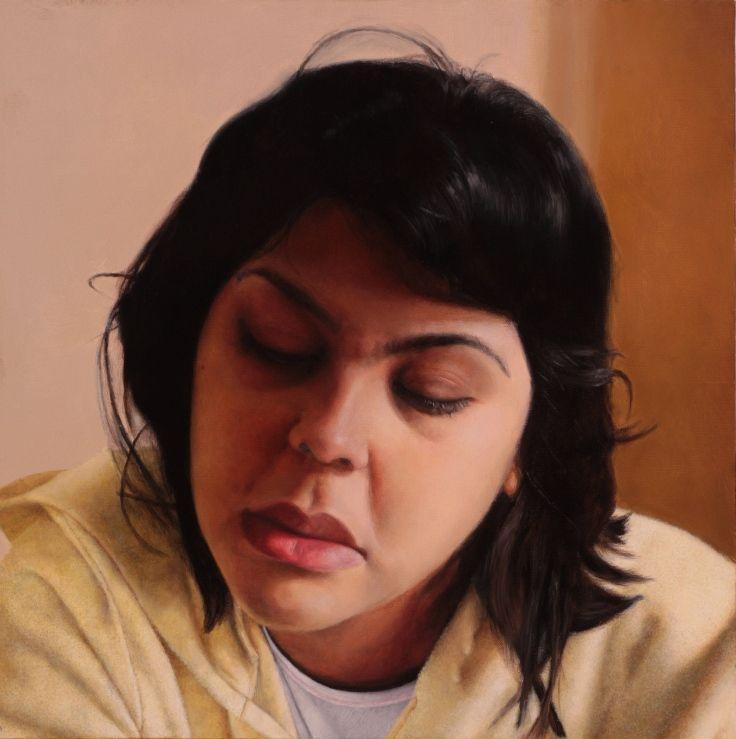 "Kim Woodman  //  ""Broken Things""  /  Oil on canvas  /  50x50cm"
