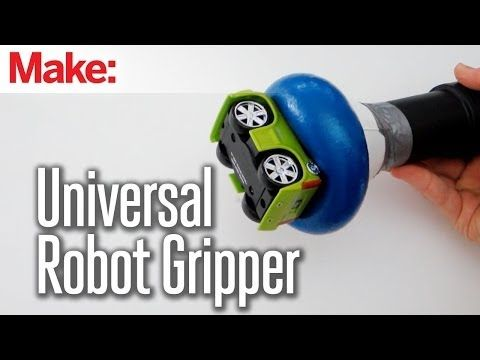 """How to make a universal robot gripper using an ordinary balloon and coffee grounds. The """"universal gripper"""" design was developed by researchers at Cornell University and the University of Chicago. ▶ Universal Robot Gripper - YouTubehttp://makezine.com/projects/universal-robot-gripper/"""