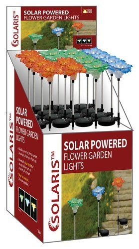 Solar Colored Flower Garden Stakes with White LED LightsAlpine-SLC124A by Alpine. $266.54