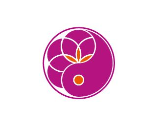 Symbol paradigm change. Logo combining the two most powerful ancient symbols there is. Yin & Yang and Flower (seed) of Life. This logo is for a Feng Shui consultant asking specifically for the energy of both symbols. The feminine fuschia color combines the universal loving energy of pink with calming blue, making the logo strong, passionate and confident. Some orange was added to give it an extra energy boost, to add depth and more symbolism.