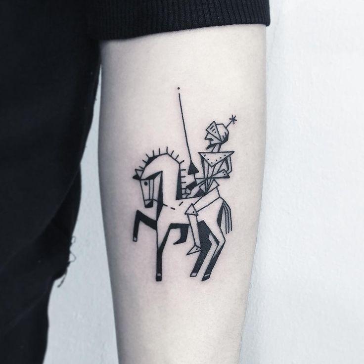 """✖️돈키호테 DonQuixote✖️ . . . #타투 #그림 #아트 #그림타투 #디자인 #일러스트 #블랙 #블랙타투 #tattoo #design #greemtattoo #draw #blackink #ink #tattooart #illustration #black…"""