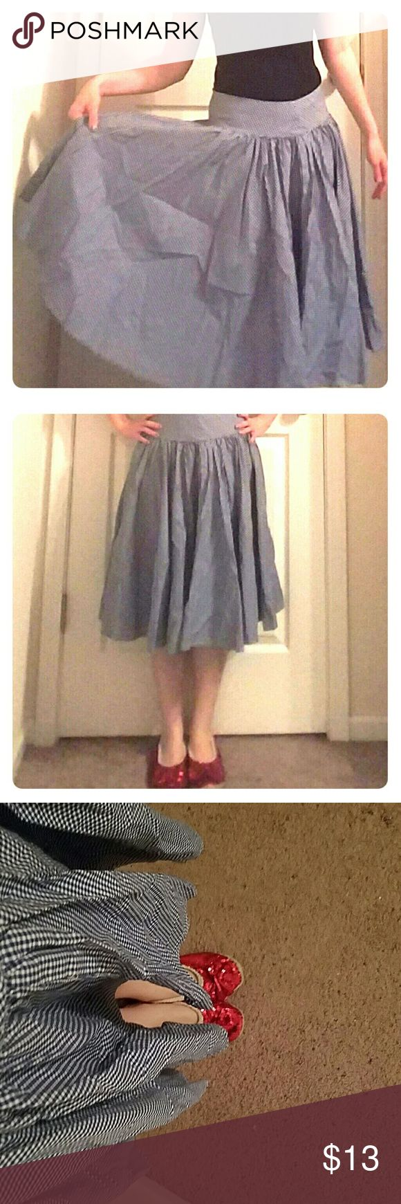 A-line gingham skirt You're not in Kansas anymore! I always feel like Dorothy in this blue and white checked midi skirt. Ruby slippers not included. Ralph Lauren Skirts A-Line or Full