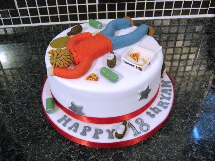 Male 18th Birthday Cake Designs : Simple 18th Birthday Cake ...