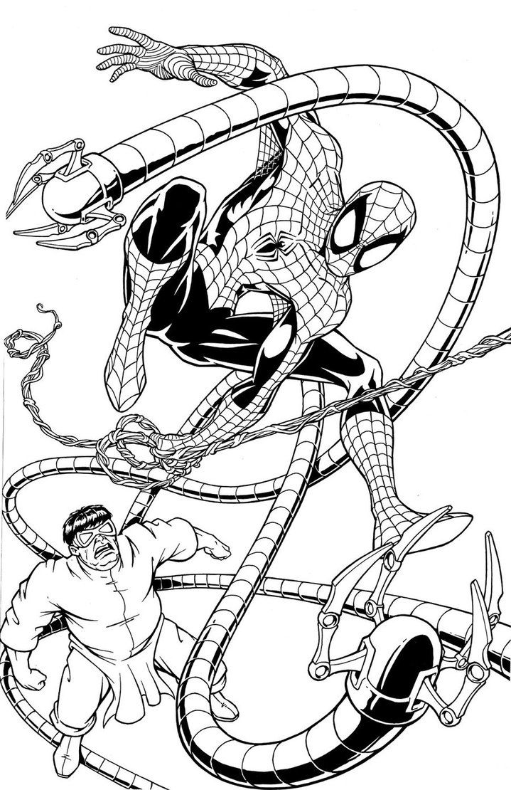 Doctor Octopus Coloring Pages Gallery