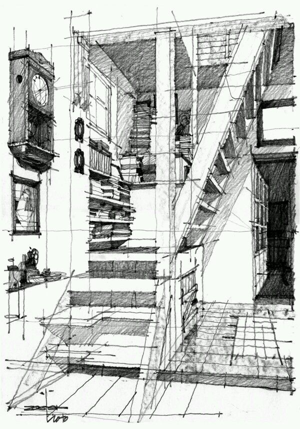 86 best images about architectural drawings on pinterest for Interior designs sketches
