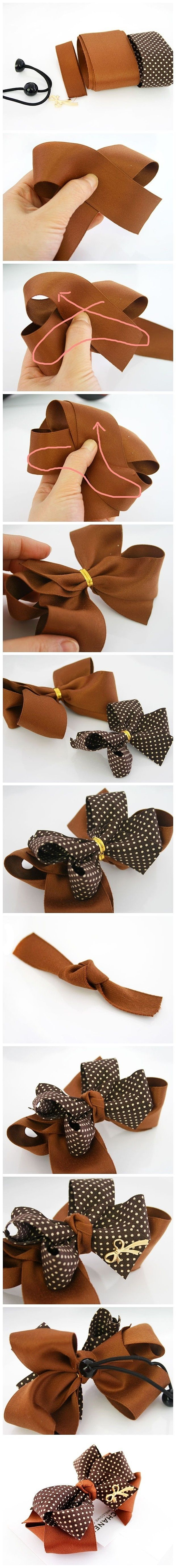 DIY Chanel Inspired Bow bows diy crafts home made easy crafts craft idea crafts ideas diy ideas diy crafts diy idea do it yourself diy projects diy craft handmade hair bows