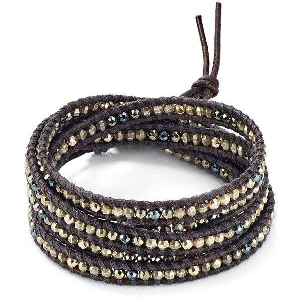 Chan Luu Wraparound Bracelet ($210) ❤ liked on Polyvore featuring jewelry, bracelets, chan luu jewelry, chan luu and wrap jewelry
